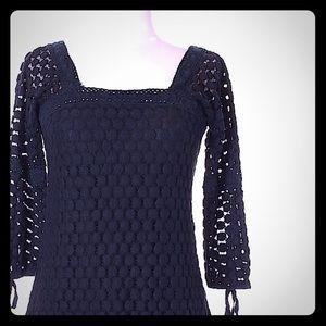 Solitaire Tops - Woman's sz S 3/4 blouse